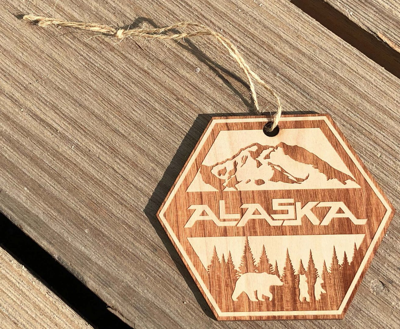 Alaska Badge Ornament