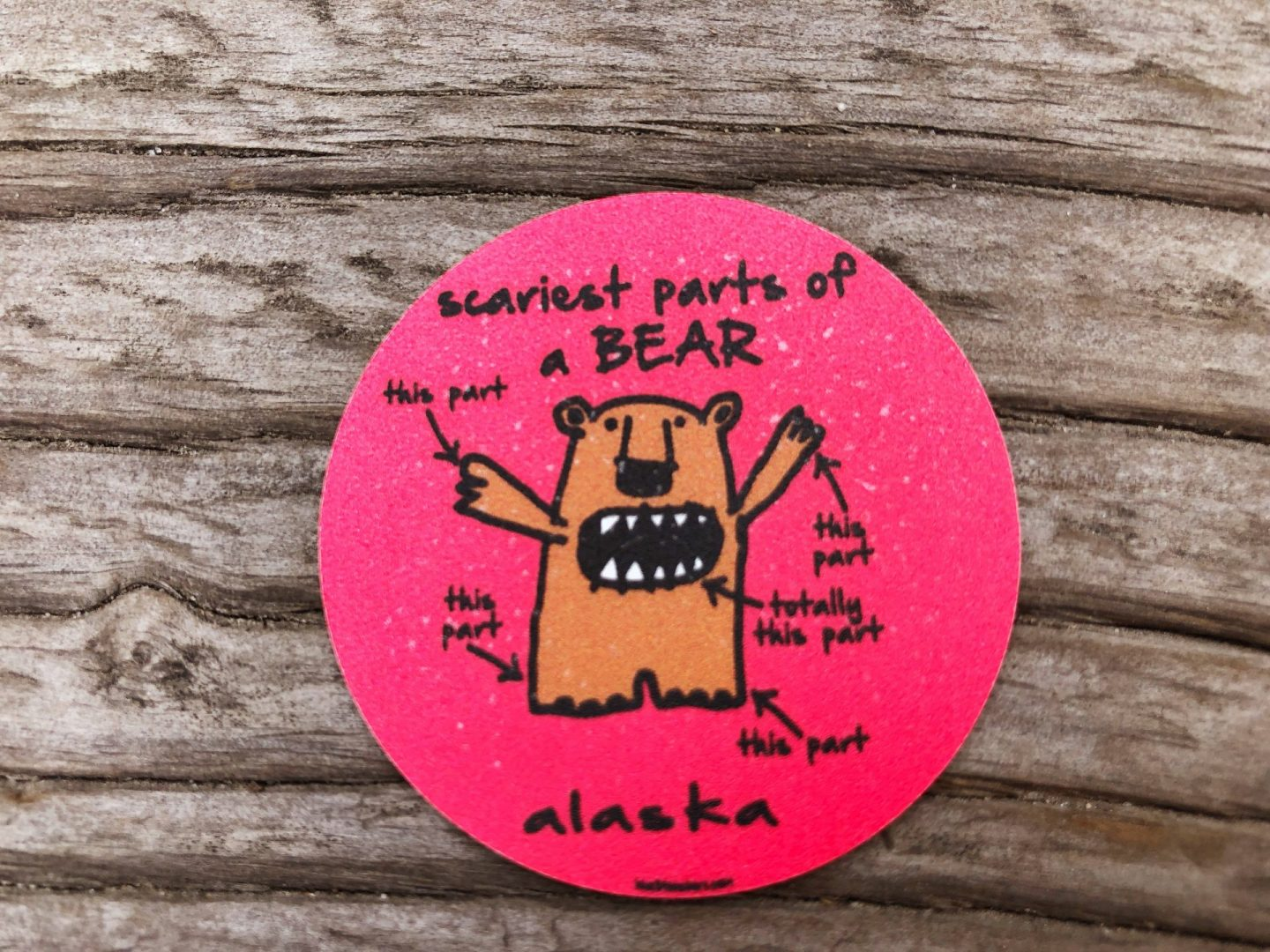 Scary Bear Sticker