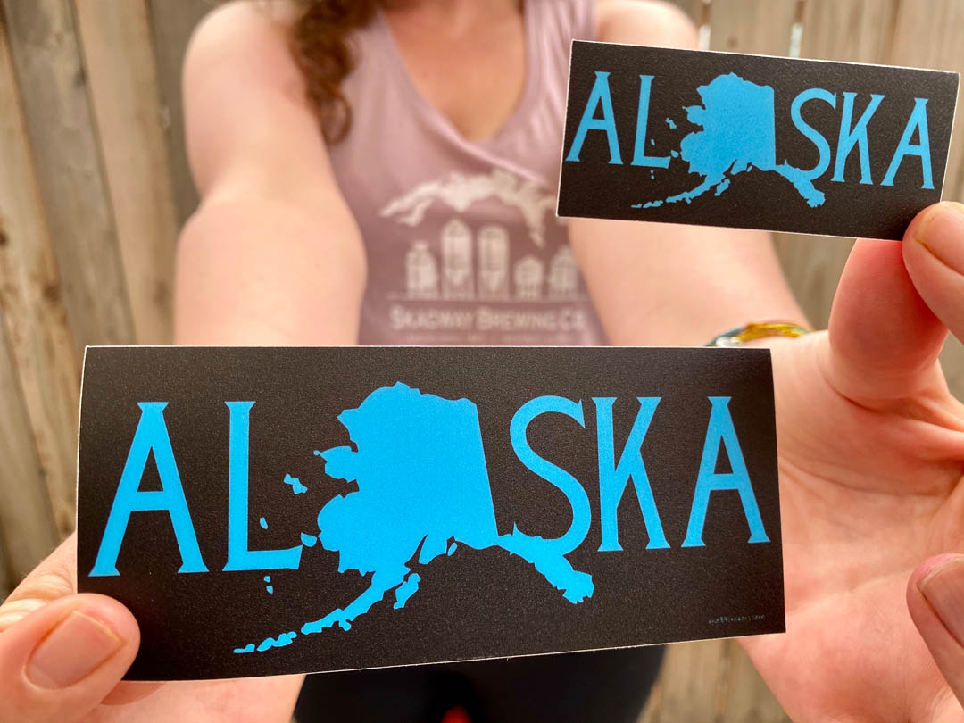 Love Alaska Sticker